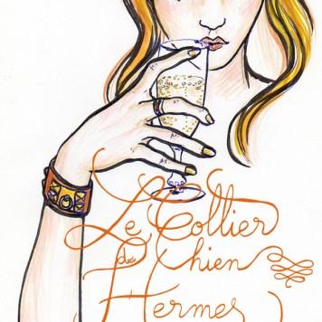 collier de chien Hermes par Holy Mane