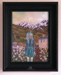 Jeune fille devant la montagne 2015