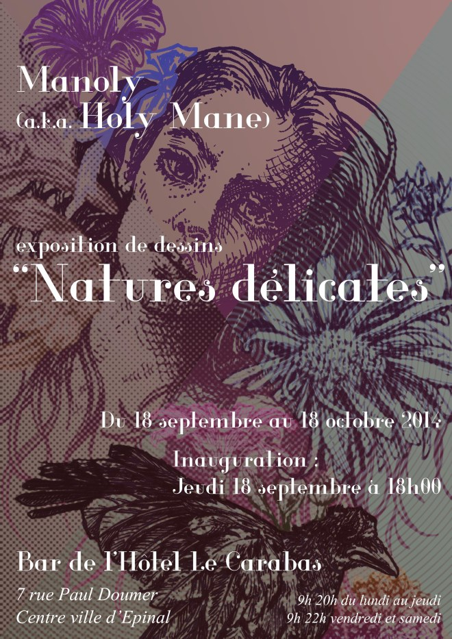 flyer exposition Holy Mane