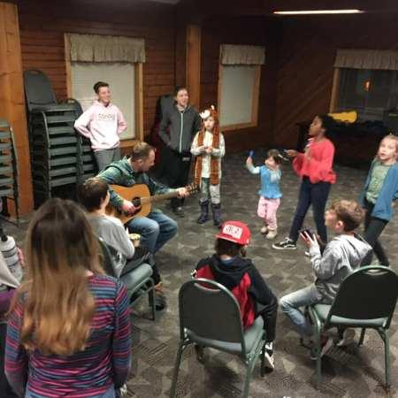 Family camp singing