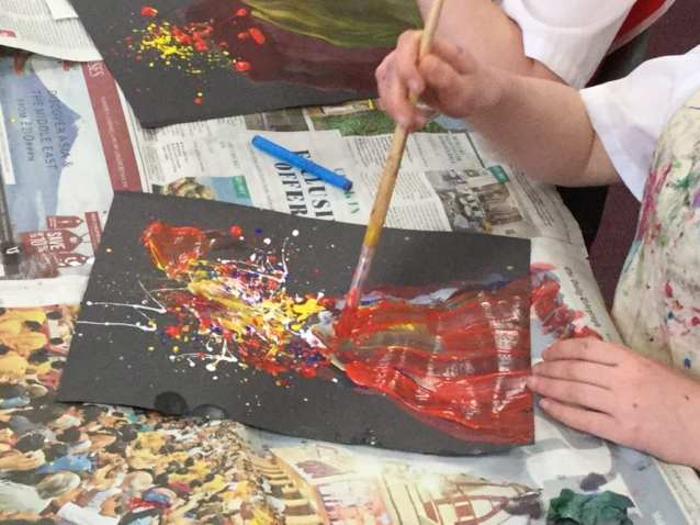 creating volcano picture
