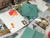 splatter and colour mixing