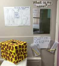 Giraffe Name display
