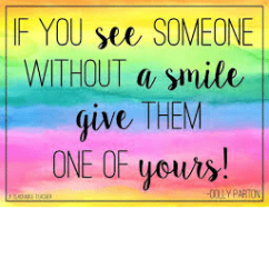 Smile quote square