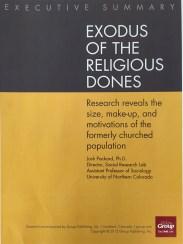 Exodus of the Religious Dones