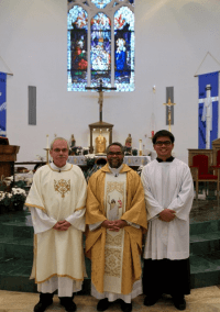 Easter with deacon fr, anthony & Seminarian