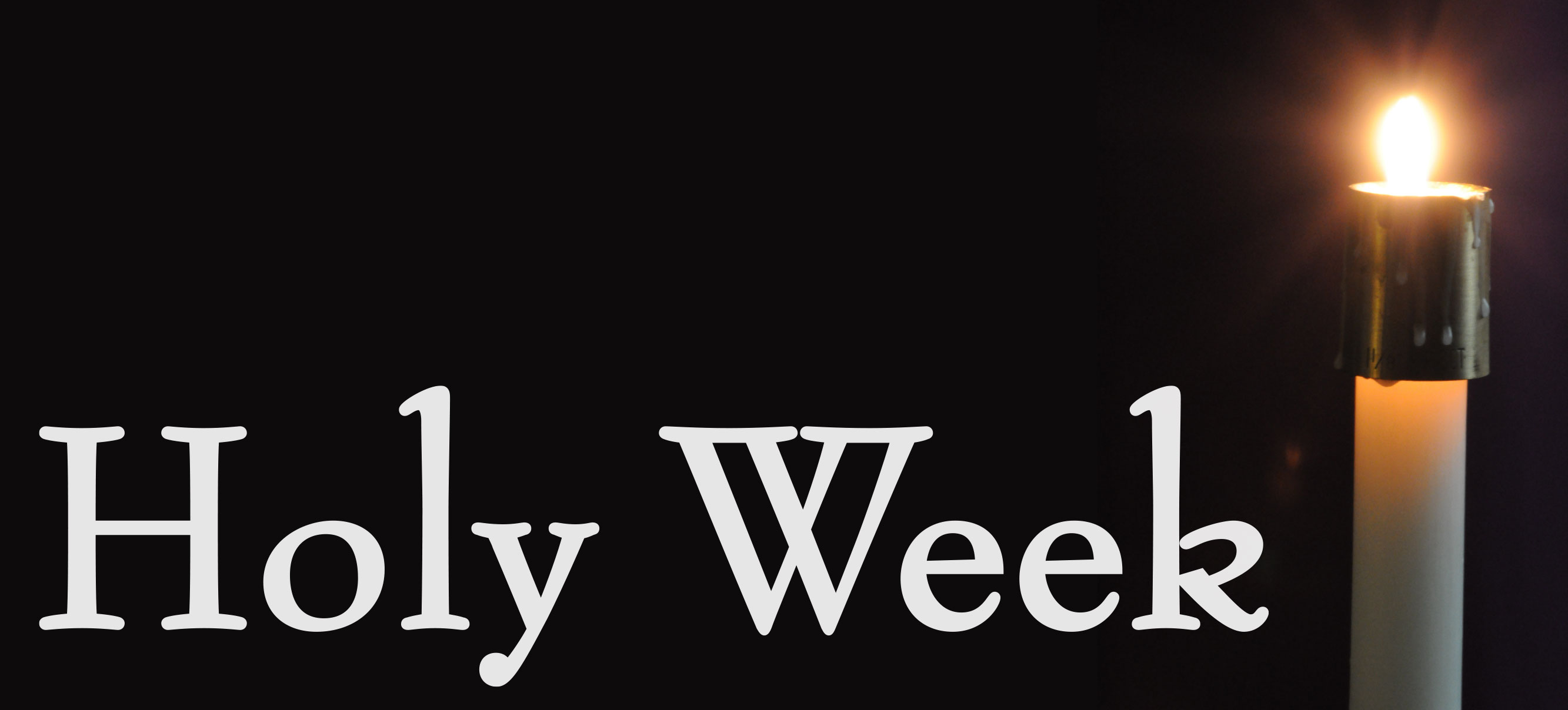 Events Of The Holy Week 1