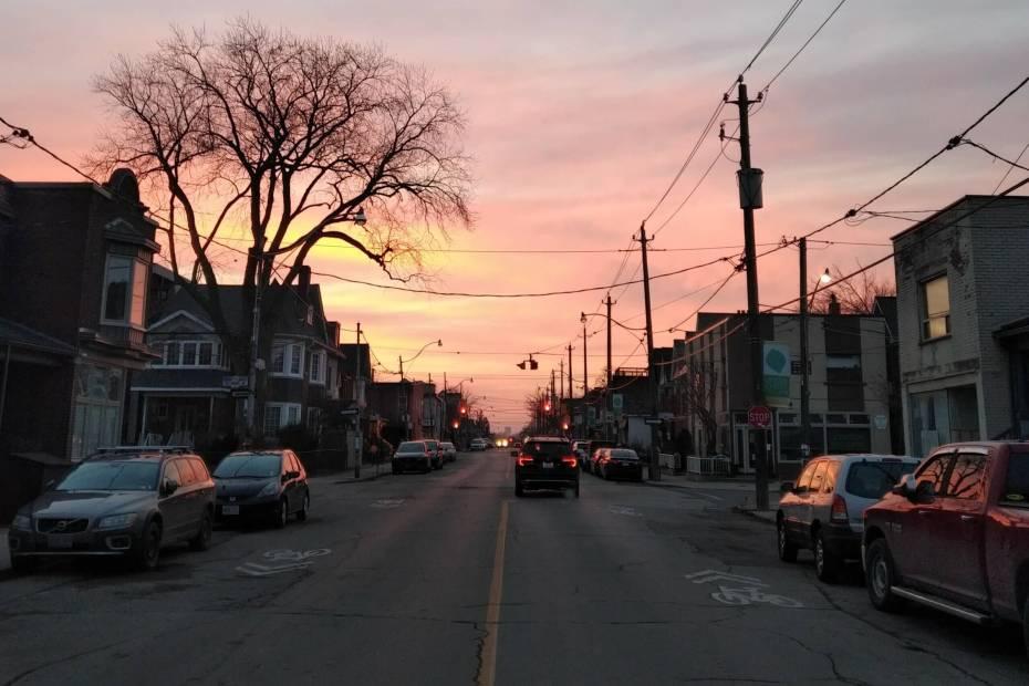 Sunset over Hallum Street