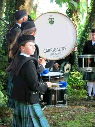 The pipe band lead the way on St John's Eve, Carrigaline