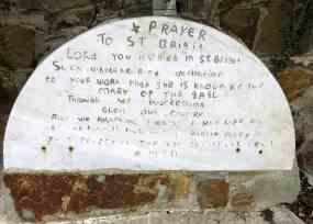 A hand carved prayer