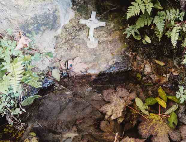 White crucifix