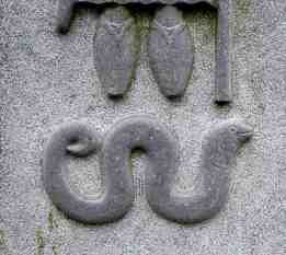 Blessed eel at the feet of St Fanahan