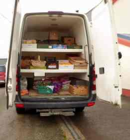 Travelling grocery van