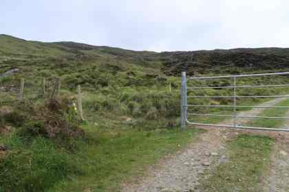 Turn left over this gate