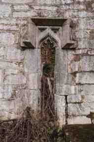 Old window, possibly removed from the nearby monastic site