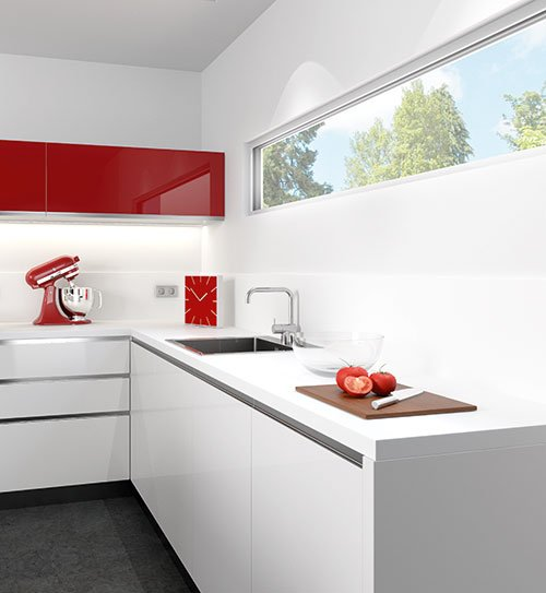 küchenarbeitsplatte hochglanz weiß | cattelan italia