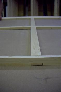 Leisten -lenke zur Faserrichtung geschnitten