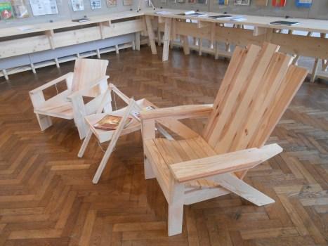Sessel aus Bretter MAK