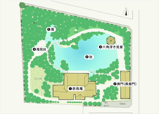 目白庭園マップ