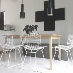 Black Chair Cushions Ikea Office Markus Bertoia Dining - Homage
