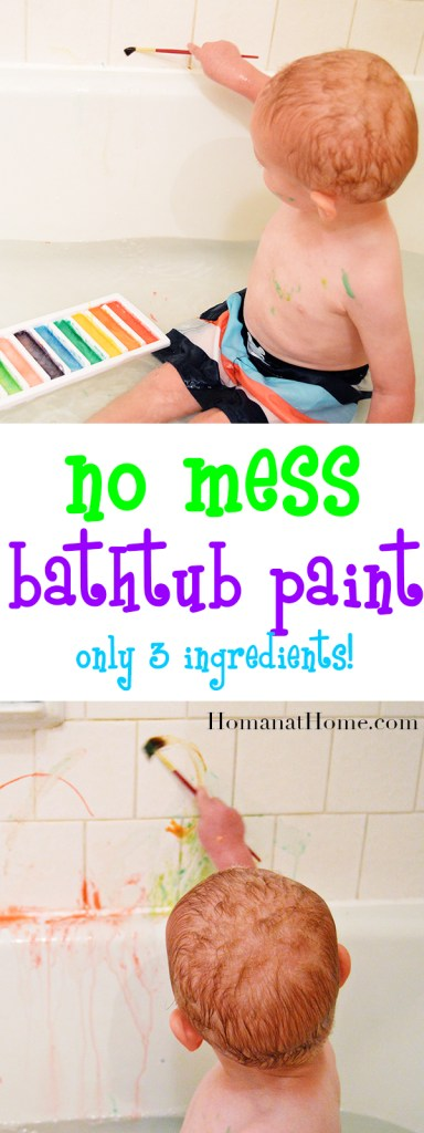 No Mess Bathtub Paint | Homan at Home