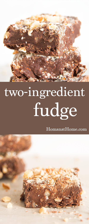 Two-Ingredient Fudge | Homan at Home