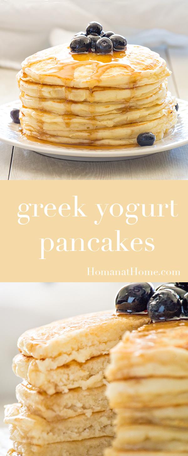 Greek Yogurt Pancakes |  Homan at Home