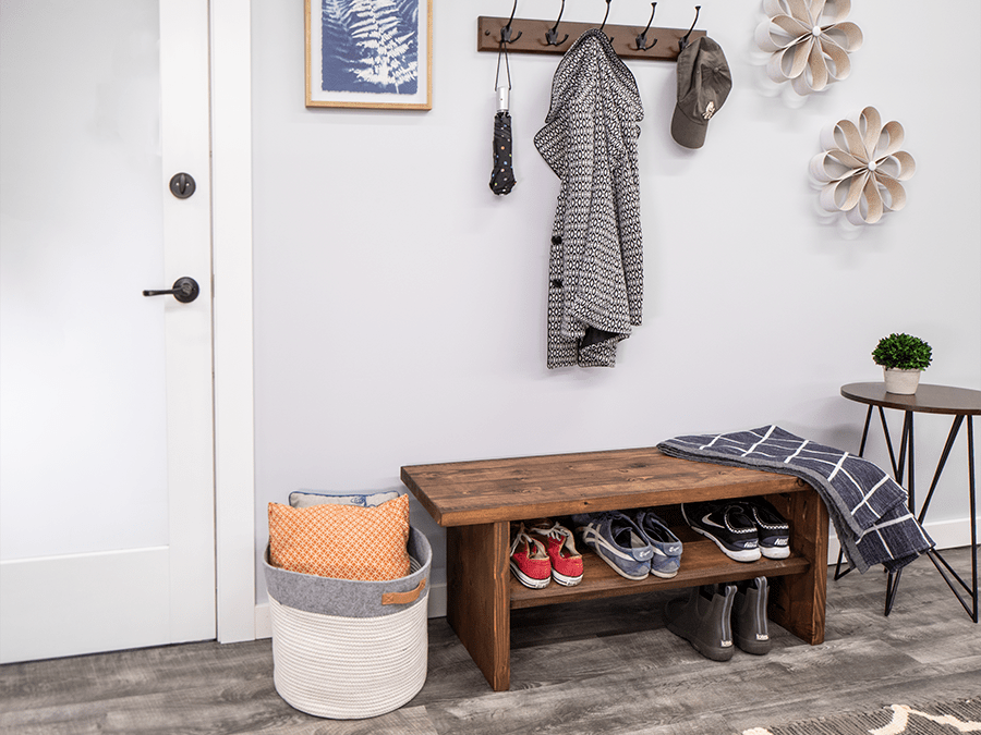 DIY Bench with Shoe Rack