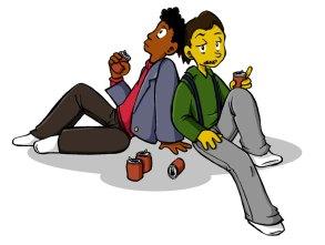 Lenny y Carl, por basil_ovelby