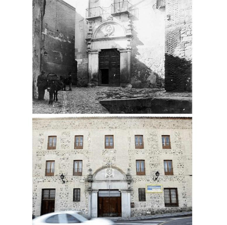 05. Antigua portería de la Trinidad, fotografiada por Linares, cuya portada se encuentra en la Alhóndiga en la actualidad hombredepalo