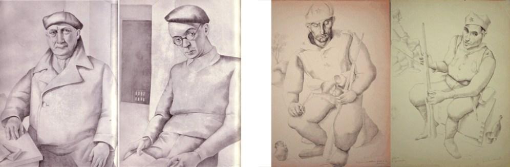 personajes y dibujos guerra civil L Quintanilla hombredepalo