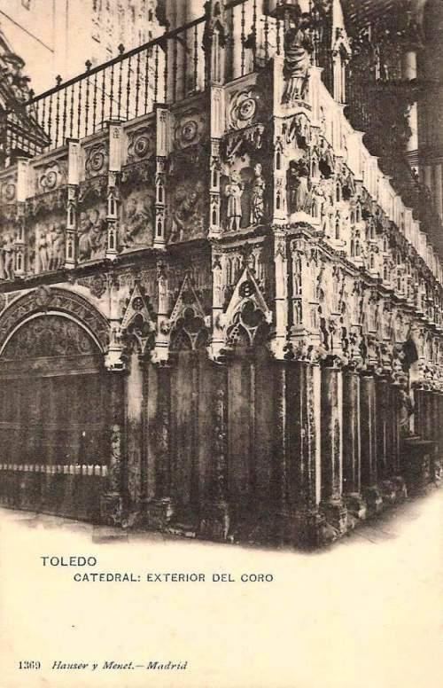 Figura 05. Cerca exterior del Coro de la Catedral de Toledo. Fotografía de Óscar Hauser y Adolfo Menet. Comienzos del siglo XX
