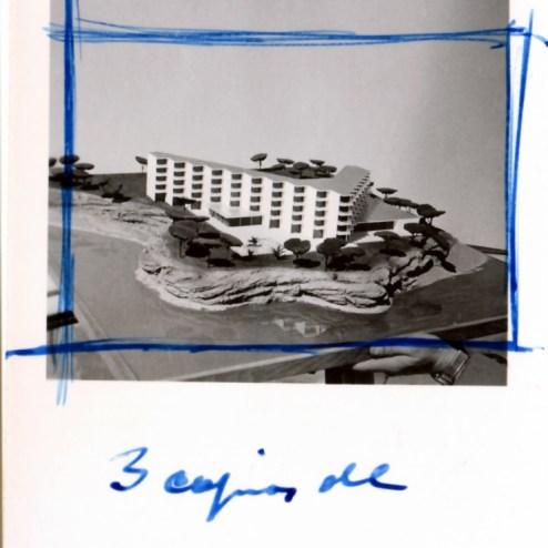 Detalle fotografias maqueta hotel
