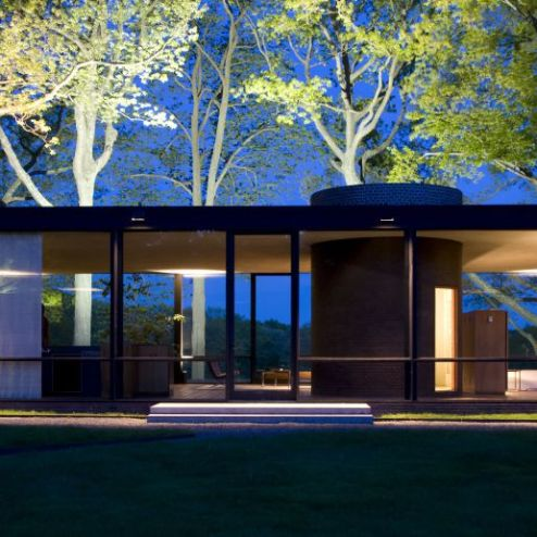 """Glass House"" en New Canaan de Philip Johnson, 1949"