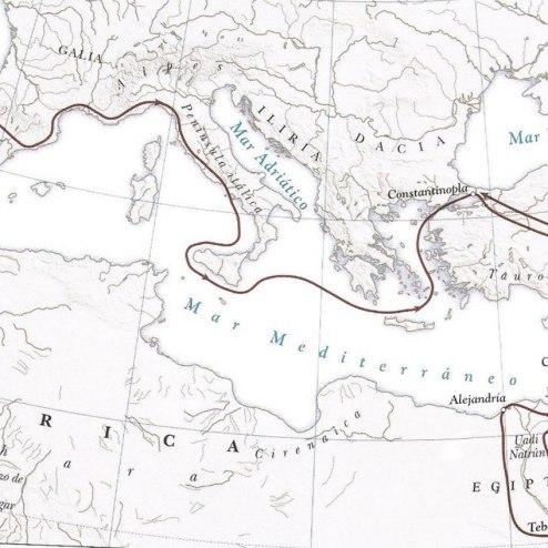 4A Ruta del viaje de Egeria
