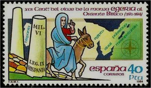 4B. Sello conmemorativo del Viaje de Egeria.