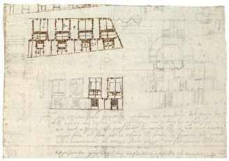 Proyecto para cuatro viviendas en serie con patio y pozo 1560-1570. RIBA Library, Drawings and Archives Collection. Londres