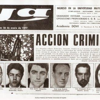 Portada del diario Ya del 25 de abril de 1977