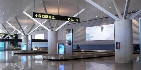 Aeropuerto de Ciudad Real vacío, sin vuelos.