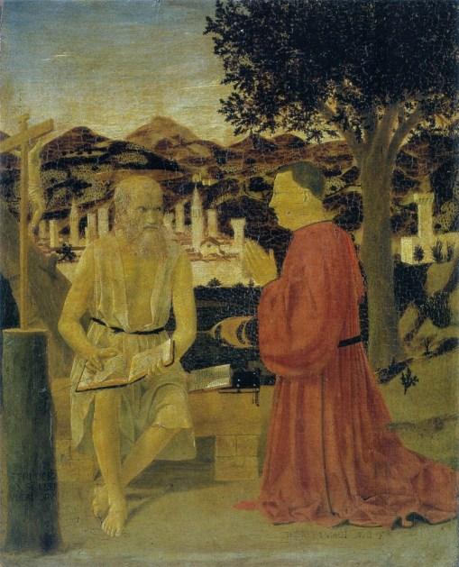 Piero della Francesca. San Jerónimo y un devoto. 1450.