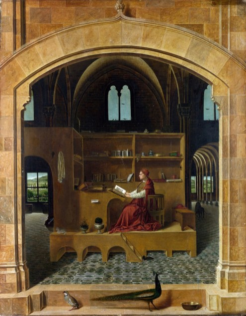 Antonello da Messina: San Jerónimo en su estudio.