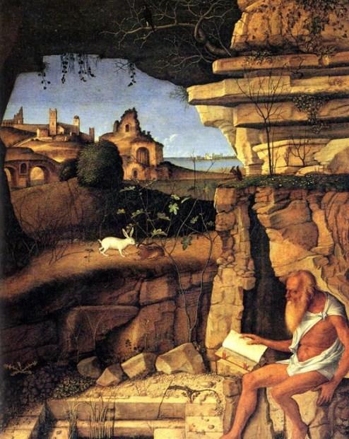 Giovanni Bellini. Lectura de San Jerónimo, 1505.