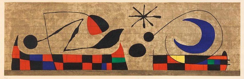 """Joan Miro, """"Mural de la Luna"""""""