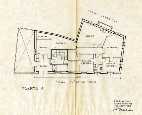 Planta 1º. Segunda opción septiembre 1948.