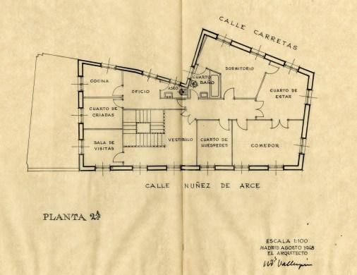 Planta 2º. Segunda opción septiembre 1948.
