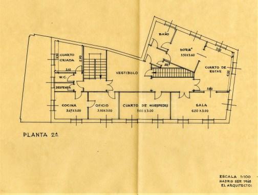 Planta 2º, septiembre 1948.