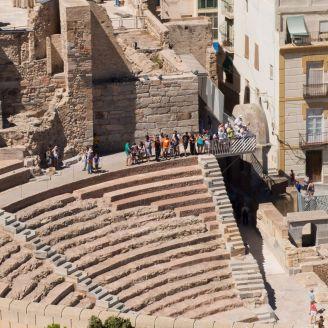 Teatro romano de Cartagena restaurado.