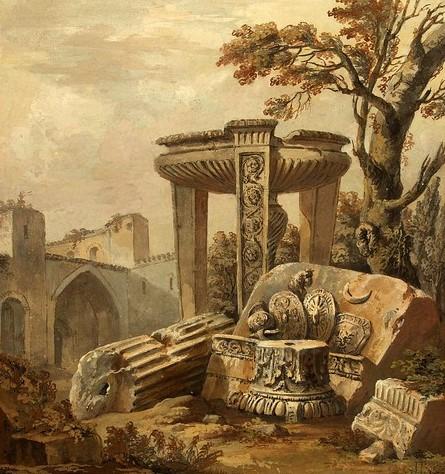 Clérisseau, Charles-Louis. 1760. Fantasía arquitectónica.