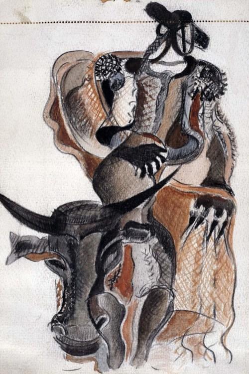 Alegoría del toro y el torero, 1926-1930. @Museo Reina Sofía.
