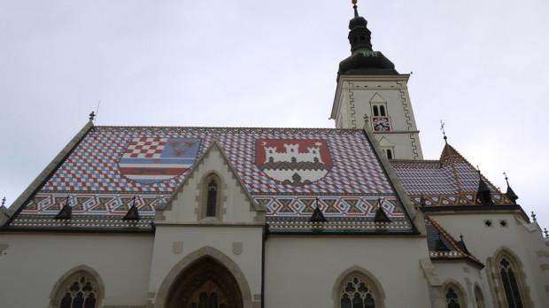 La iglesia de Sv. Marka o San Marcos en Zagreb